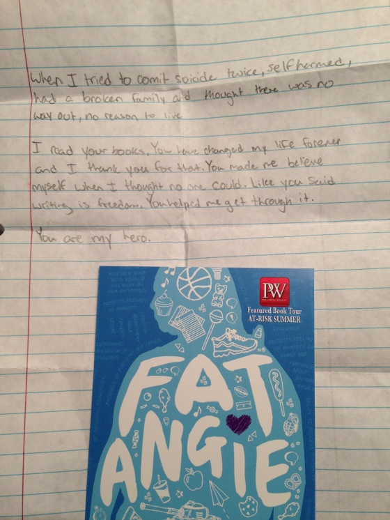 letter from young person from movie